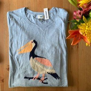 Baby Blue Lightweight Crew Neck Pelican Sweater